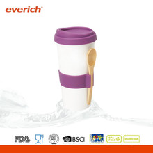 300ml New product ceramic coffee mug with lid
