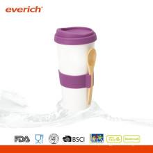 300ml Nova caneca de café de cerâmica com tampa