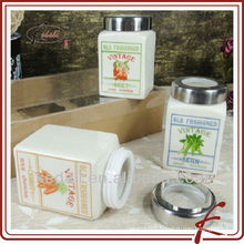 ceramic snack jar with lid