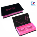 caja de empaquetado personalizada de pestañas falsas rosa con logo