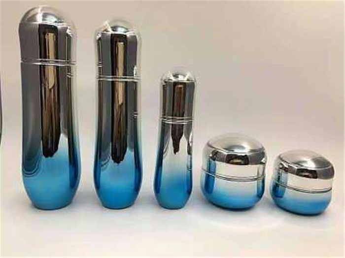 mirror effect glass cosmetic bottle