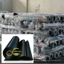 Membrana impermeável de borracha preta de alta qualidade de EPDM com certificado do ISO