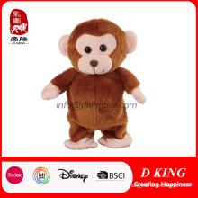 Macaco macio feito sob encomenda do luxuoso do brinquedo do bicho de pelúcia