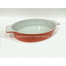 Customized Design Oval Ceramic Bakeware (Set)