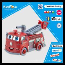 B / O borbulhante pumper com luz e música bolha brinquedo carro de bombeiros