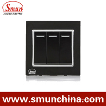 Wall Switch, A5 Series, Touch Switch, House Switch Black 3 Way