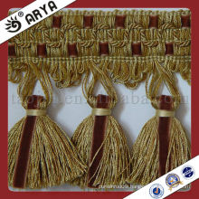 Woven Tassel Curtain Trim Lace tassel fringe ,used for drapes,cushions,curtain and accessories,made in China