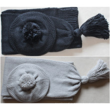 (LKN15033) Выдвиженческий шарф зимы связанный
