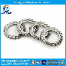 DIN6798 GB862 rondelle de serrage dentée externe en acier inoxydable, rondelle de serrure dentaire