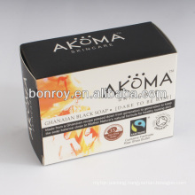 Offset printing soap packaging box