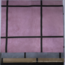 Big Square Printing Suede Fabrics