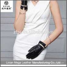 Heißer Verkaufs-hochwertiger bester Preis-Art- und Weisefrauen-Leder-Handschuhe bequem