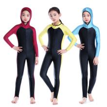 Классический сшитое детей мусульманские ба костюм длинный стиль милые дети купальники для девочек купальники