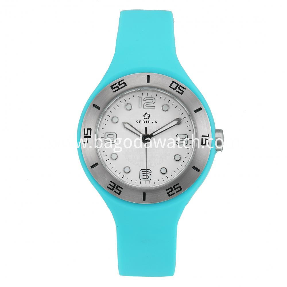 Stainless Steel Silicone Strap Watches