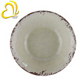 White Rustic Crack Design Melamine Plastic Soup Bowl