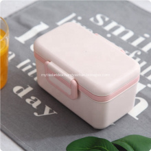 Double Layers Bamboo Fiber Bento Lunch Box