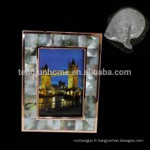 Décoration intérieure MOP shell image cadre photo cadre spécial flocons de neige cadres photos