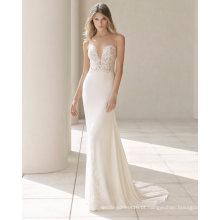 Rendas e Chiffon Sereia vestido de noiva vestido de noiva