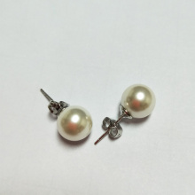 Simple Ivory Pearl Stud Earrings
