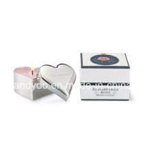 Scented Soy Heart Shape Tin Candle with Gift Box