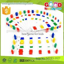 Los juguetes coloridos de madera de las piezas de la más nueva promoción para los niños OEM el juego de madera del oso para los cabritos MDD-1027