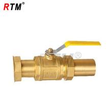 válvula de bola de latón de vapor y agua