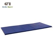 Tapete de ginástica dobrável e grosso azul