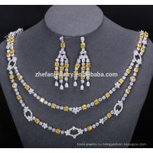 свадебный ожерелье и серьги комплект ювелирных изделий невероятные блестящие украшения помогут поймать глаза людей