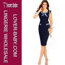 Mulher Fashion Bodycon Vestido MIDI Ol Business Pencil Dress (L36054)