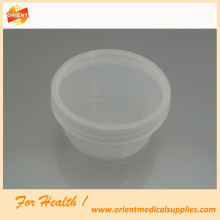 Disposable plastic laboratory sputum container