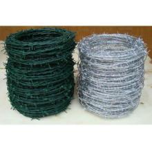 La seguridad galvanizó el alambre de púas revestido del PVC con 20 años de China Fabricación del puerto de Xingang