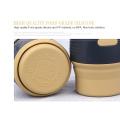 BPA frei Silikon zusammenklappbar Reisebecher