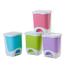 Красочная пластиковая мусорная корзина для педалей (YW0083)