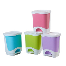 Colorful Plastic Pedal Waste Bin (YW0083)