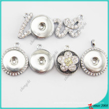 20mm Snap Button Alloy Charms Pendant