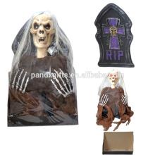 Halloween polyfoam cheap outdoor and indoor half body ghost tombstone