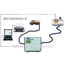 volume nível do tanque de calibração automática de alta precisão