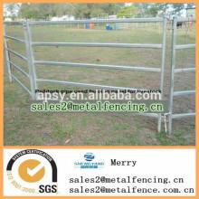 clôture de tuyau métallique à faible coût pour le paddock de bétail utilisé rails panneau de clôture