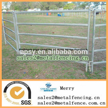 low cost metal pipe fence for livestock paddock used rails fence panel