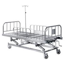 Conjunto de gabinete de cama de hospital médico manual de 3 posiciones