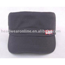 cotton military cap with embroidery