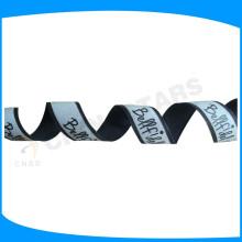Fita de correia reflexiva impressa wih filme de transferência de calor brilho na cadeia de dardo