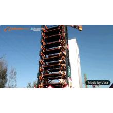 11 floors 20 vehicles Smart vertical parking guidance system
