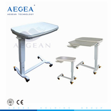 AG-OBT013 operated by gas spring adjustable hospital bed table