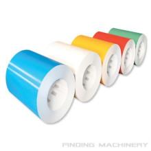 fabriqué en Chine couleur différente enroulement en acier enduit bobine de feuille/belle & coloré tôle
