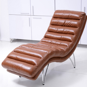 Recliner Leather Futon Chaise Lounge Bäddsoffa