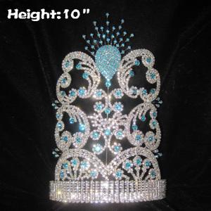 Diamantes de imitación de cristal Pavo Real Coronas con diamantes azules