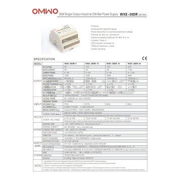 Omwo Wxe-30dr-12 DIN-Schiene Single Output Schaltnetzteil