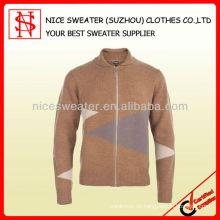 Männer 100% Wolle Shawl Strickjacke Strickwaren