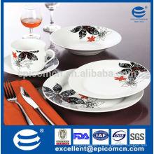Décoration classique en Allemagne avec la vaisselle en porcelaine pour hôtel et restaurant Vaisselle